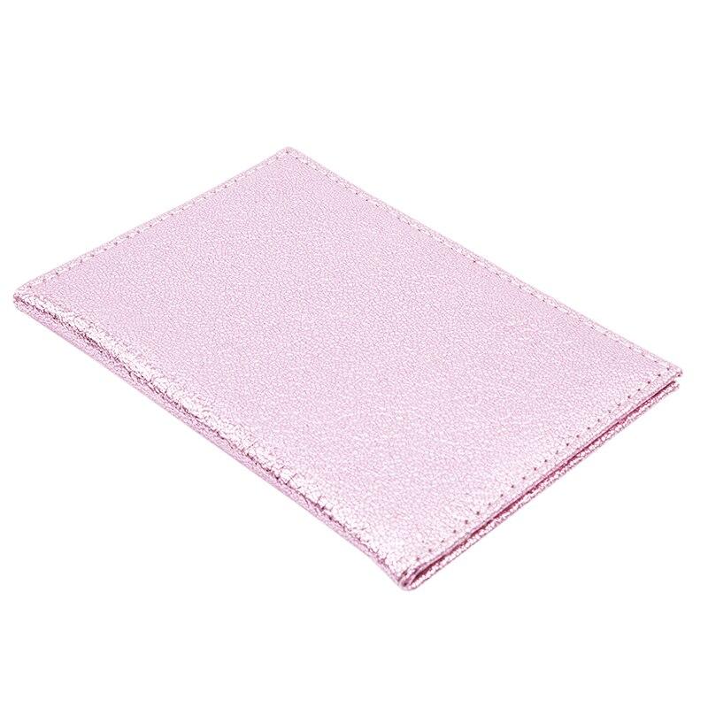 Роскошная однотонная Обложка для паспорта для женщин, чехол для паспорта, кожаный милый кошелек для паспорта, держатель для паспорта - Цвет: Pink