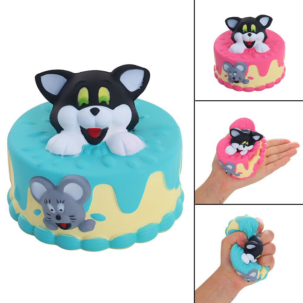 Squishy Slow Rising Squeeze Kid Toy Cute Whale Cat Cake Decor Slow Rising Kid Squeeze Relieve Anxiet Gift Toys Dropshipping W524