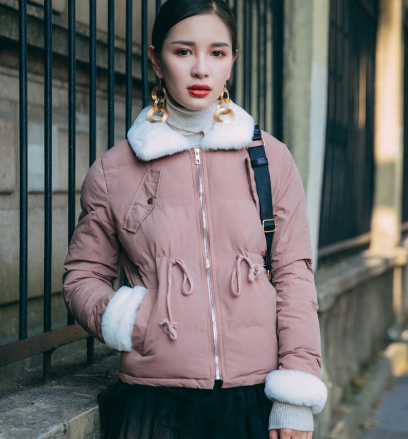 Korea style women winter coat long sleeve fashion vintage pockets three colors women jackets