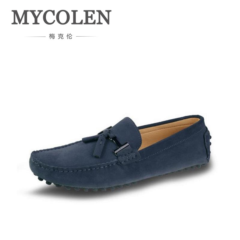 MYCOLEN Genuine Leather Loafers Men Tassel Loafers Moccasins Mens Italian Driving Shoes Slip On Classic Mens Casual Shoes men s full grain leather shoes casual crocodile driving shoes slip on boat shoes fashion moccasins for men s loafers new quality