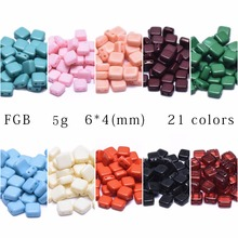 assoonas Z76 square bead jewelry accessories jewelry findings accessory parts jewelry making handmade diy accessories 40pcs bag cheap NONE Ceramic Beads Square-shape Fashion