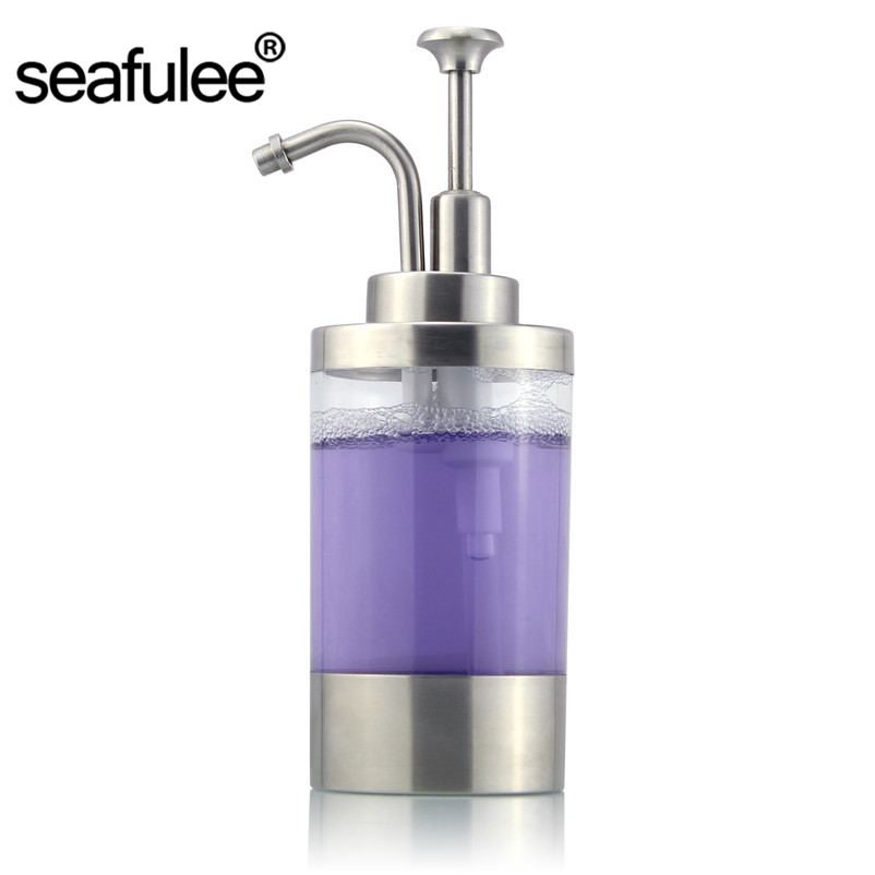 Liquid Soap Dispenser 304 Stainless Steel Brushed Pump Bottle Kitchen Countertop Accessory Home Decor шкатулка elan gallery красный многогранник 20 13 9 см