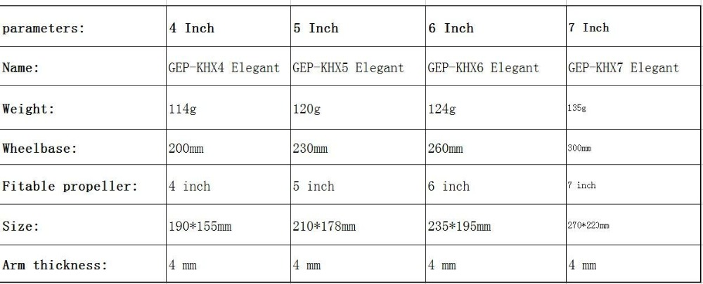 6 GEPRC Elegant Hybrid-X FPV Frame kit Carbon fiber GEP-KHX4KHX5KHX6KHX7