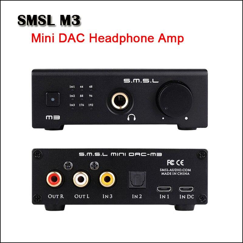 SMSL M3 Desktop Mini DAC Kopfhörer Verstärker Hifi CS4398 USB DAC Audio Kopfhörer Amp Optische Koaxial eingang
