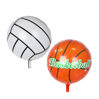 YJ Trading Store 10pcs/lot 18inch Foil Round Coccer ball balloons Kids Best Toy basketball balaos Party decoration ballons wholesale Globos