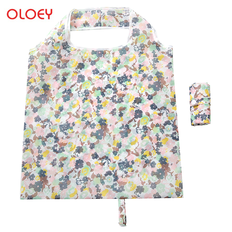 Waterproof Oxford Reusable Shopping Bags Women Foldable Tote Bag Portable Cloth Eco Grocery Bag Folding Large Capacity Handbags in Shopping Bags from Luggage Bags
