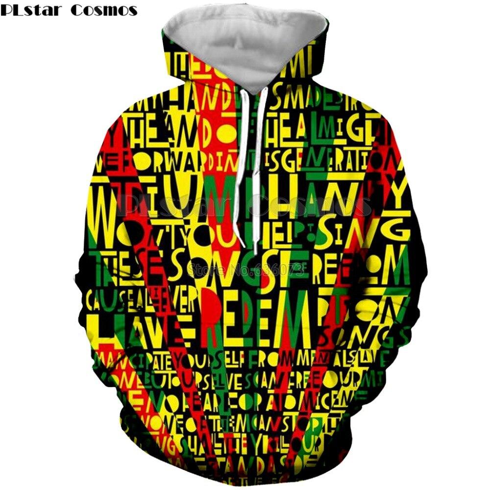 Newest Fashion Reggae King Bob Marley 3D Print Women Men Hooded Hoodies Sweatshirts Pullover Harajuku Hip Hop top plus size