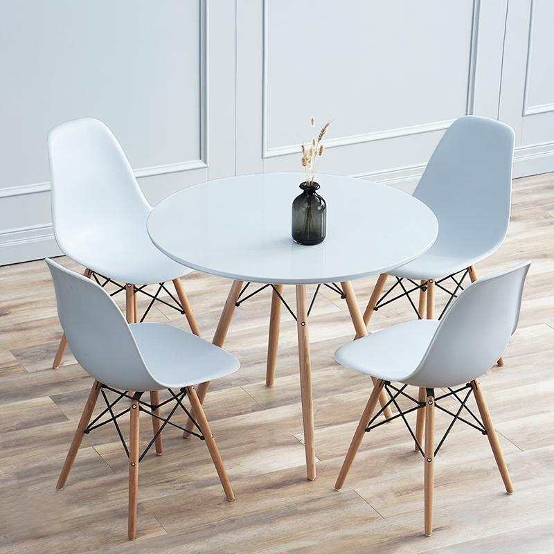 Dining Room Furniture Table Minimalist Modern Wooden Round Dining Table Fashion Popular Leisure Coffee Tables D60cm D70cm D80cm Wooden Round Dining Tables Dining Tableround Dining Table Aliexpress