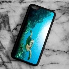Arsmundi 2018 Новый Морская Черепаха Телефонные чехлы для iphone 4S 5C 5S 6 6 S 7 8 Plus X для Samsung s5 6 7 8 Чехол Мягкий ТПУ Резиновая силиконовые