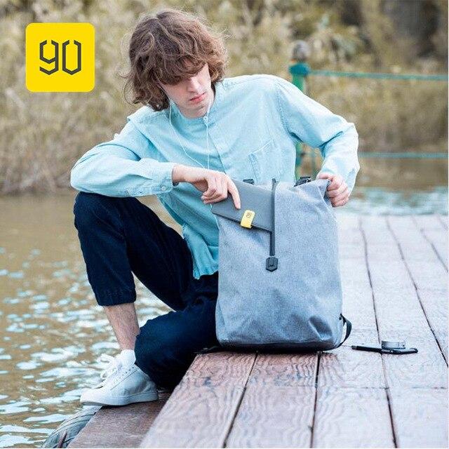"Xiaomi 90FUN Lazer Daypack Mochila Resistente À Água Homens & Mulheres Campus Mochila Mochila Bolsa de Ombro para 14 ""Laptop Bagpack"