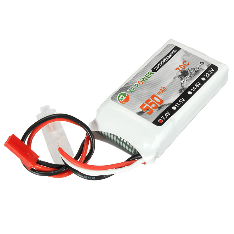 купить New Arrival Rechargeable XF Power 7.4V 550mah 70C 2S Lipo Battery With JST Plug For RC Models Li-po Batteries онлайн