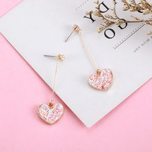 New Gold Korean Earrings 2019 For Women Lover Fashion Drop Round Heart Dangle Earring Wedding Geometric Jewelry Wholesale(China)