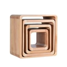 Solid wood stool fashion small bench mini creative square shoes