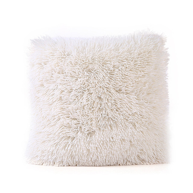 12 colori peluche lunga casa federa copertura materiale morbido pile cuscino dis