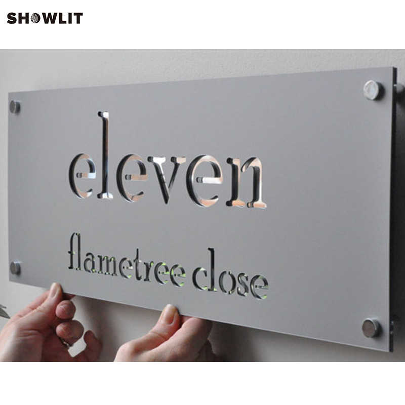 Stainless Steel Custom Made Laser Cut House Number Address Sign