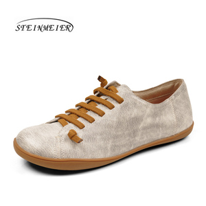 Image 3 - Women flat shoes genuine leather barefoot Casual Shoes woman Flats ballerinas sneakers Female Footwear spring shoes 2020