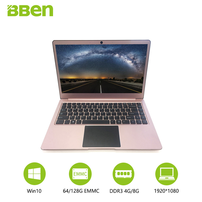 Bben ordinateur portable 14.1 Notebook FHD Préinstallé Win10 Intel Apollo Lac N3450 quad Cores 4 gb RAM 64 gb mem wifi usb3.0 type-c