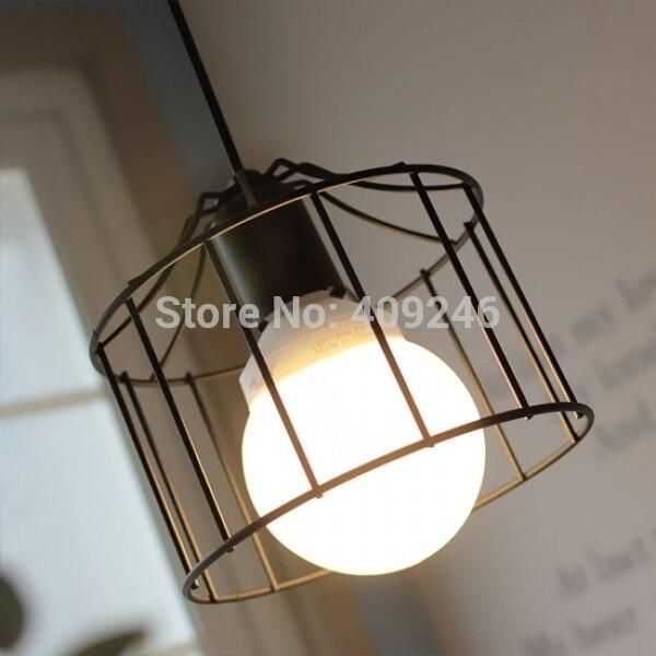Einfache Vintage Stil Industrie Hängenden Licht Mini Anhänger Käfig ...