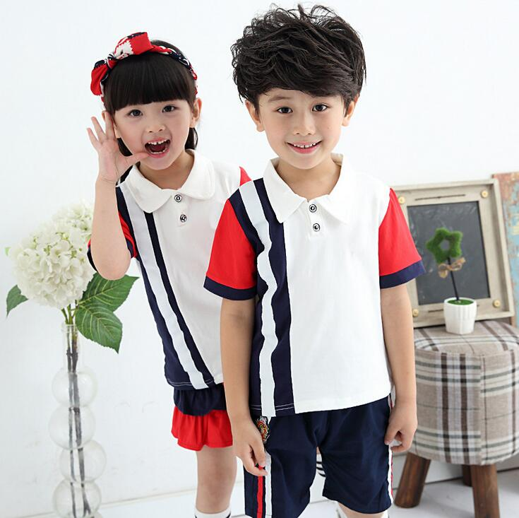 Solid Color Matching Sports Suit For A Boy Preppy Style Ropa De Nino ...