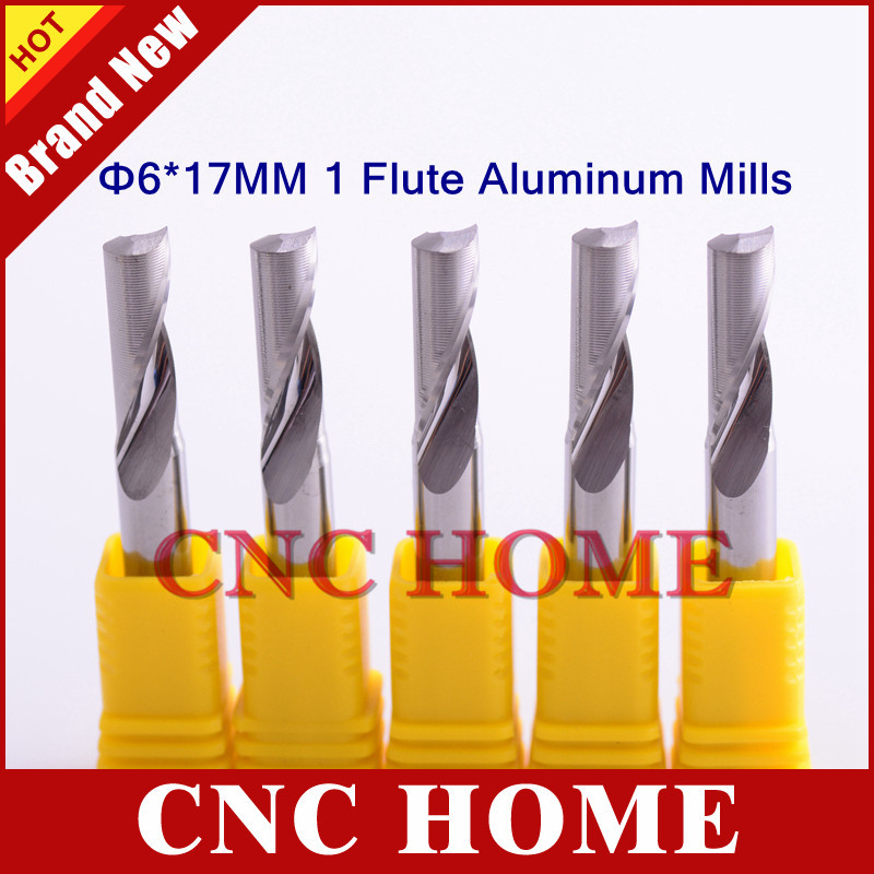 "5pc Aluminum End Milling Single Flute CNC Router Cutting Bits 1//8/"" 3.175mm  6mm"