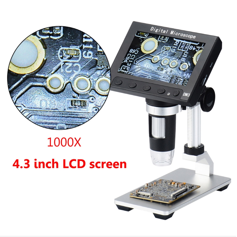 1000X USB 4 3 LCD 1080p Digital Microscope Video Magnifying Camera w LED light