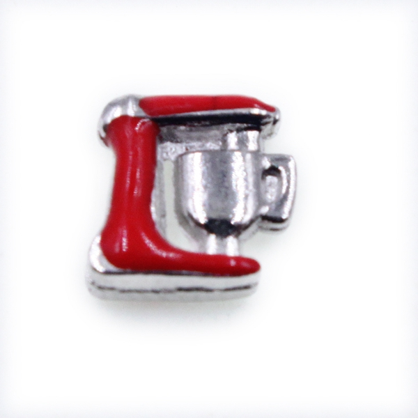 100PCS Cute Red coffee Machine Alloy Floating Charms Fit Glass Locket Charms DIY Jewelry Accessories
