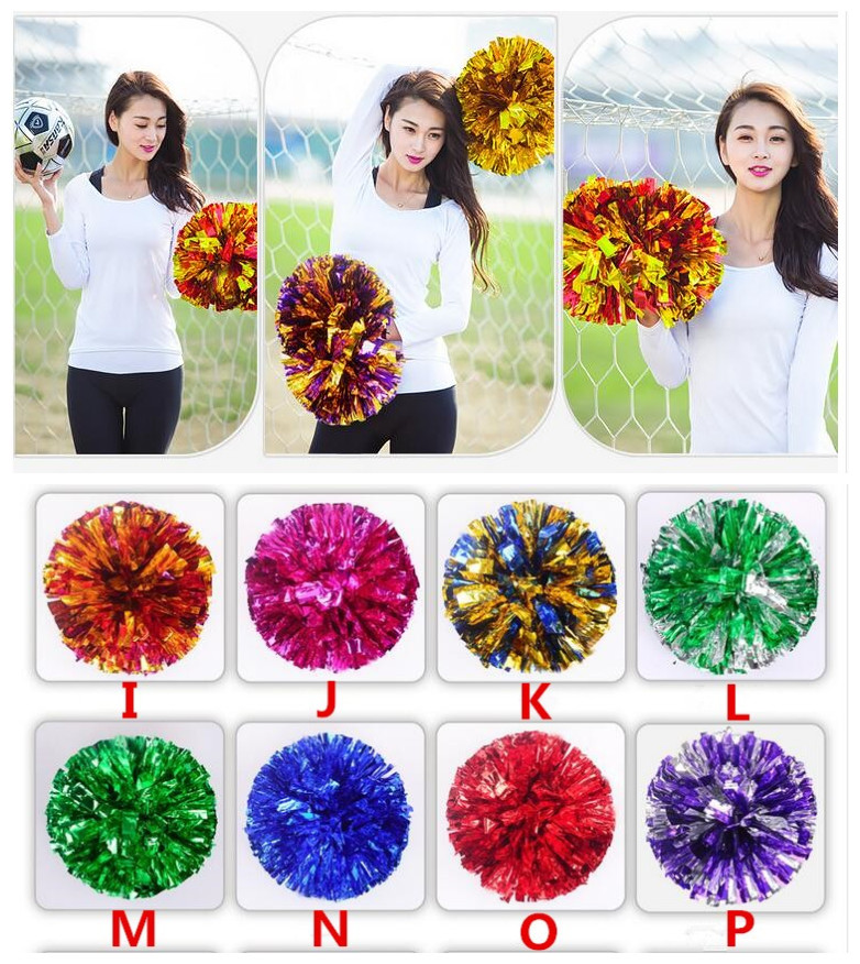 Free Shipping Blue All Star First Single Paragraph Cheerleading Pom Pon Cheerleading Cheer Supplies#1834