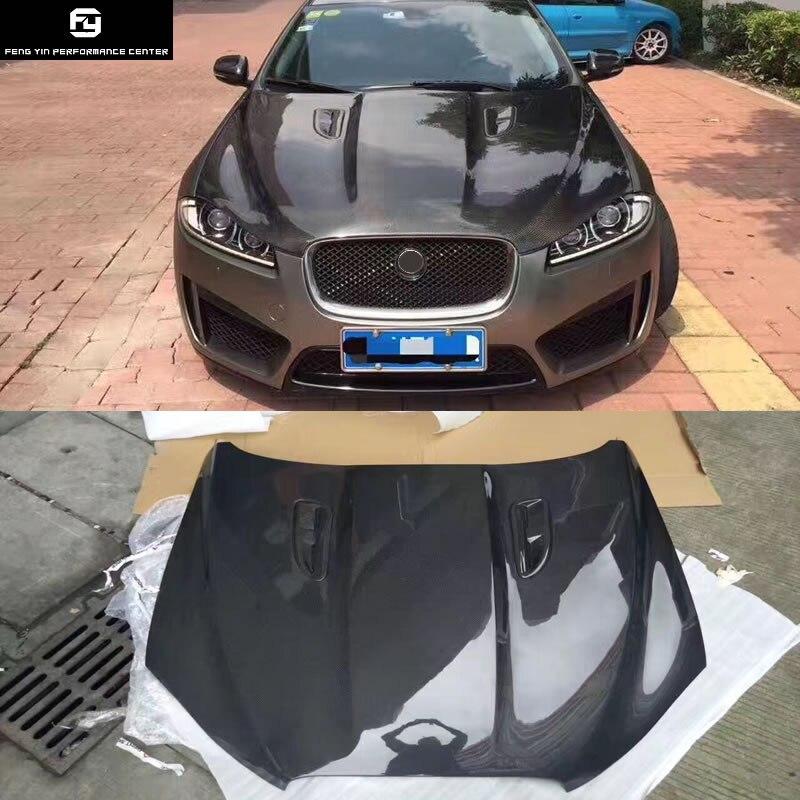 XF Carbon Fiber Engine Hood cover Auto Car Bonnet For Jaguar XF car body  kit 11-15