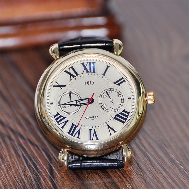 64b9f17d54f 2017 Das Mulheres Dos Homens Senhoras Relógio Numeral Romano Dial Quartz  Analógico PU Leather Strap Relógio de Pulso Relógios Jóias Acessórios de  Moda