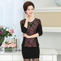 Pleuche Lã LUREX Patchwork blusa das mulheres mornas do inverno 2017 Moda senhora Lantejoulas plus size 4XL manga comprida camisa top feminino