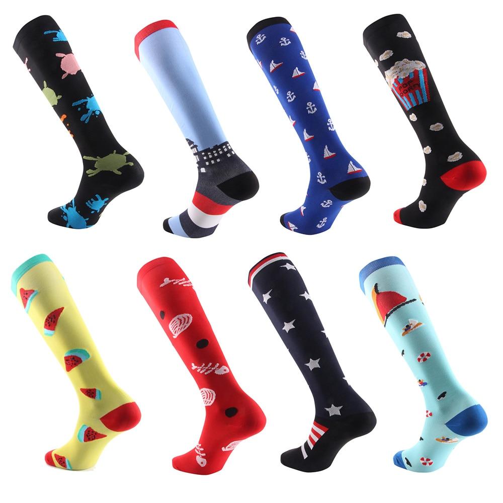 Love Skulls Unisex Compression Socks Athletic Tube Stockings Sport Long Socks One Size