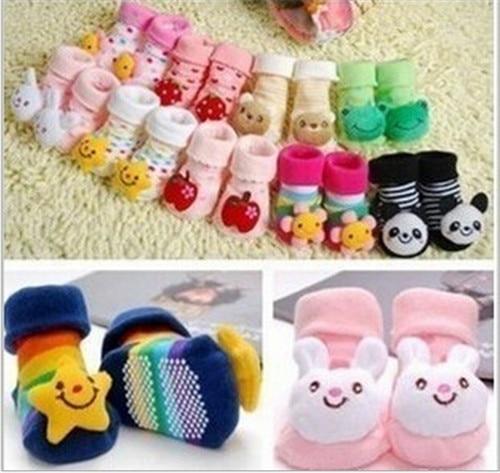 Cute Newborn Lovely Baby Girl Boy Anti-slip Socks Cartoon Animal Socks 0-12 Months