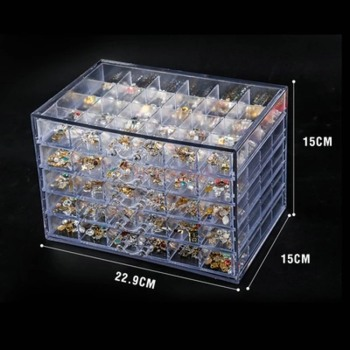 Nail Jewelry Storage Box Tool Transparent Multi-layer 120 Nail Drill Box Classification Storage Box Drawer Jewelry Box Sale