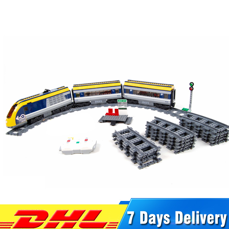 все цены на Lepin 02117 758Pcs City Figures Passenger Train Set Model Building Blocks Bricks Kits Toys for Kids DIY Gifts Compatible 60197 онлайн
