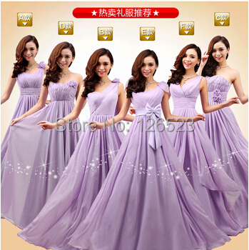 Plus Size Cheap A-line floor-length Flower Long Chiffon Formal Bridesmaid Dresses 2014 Prom Dress - KC International Fashion Store store