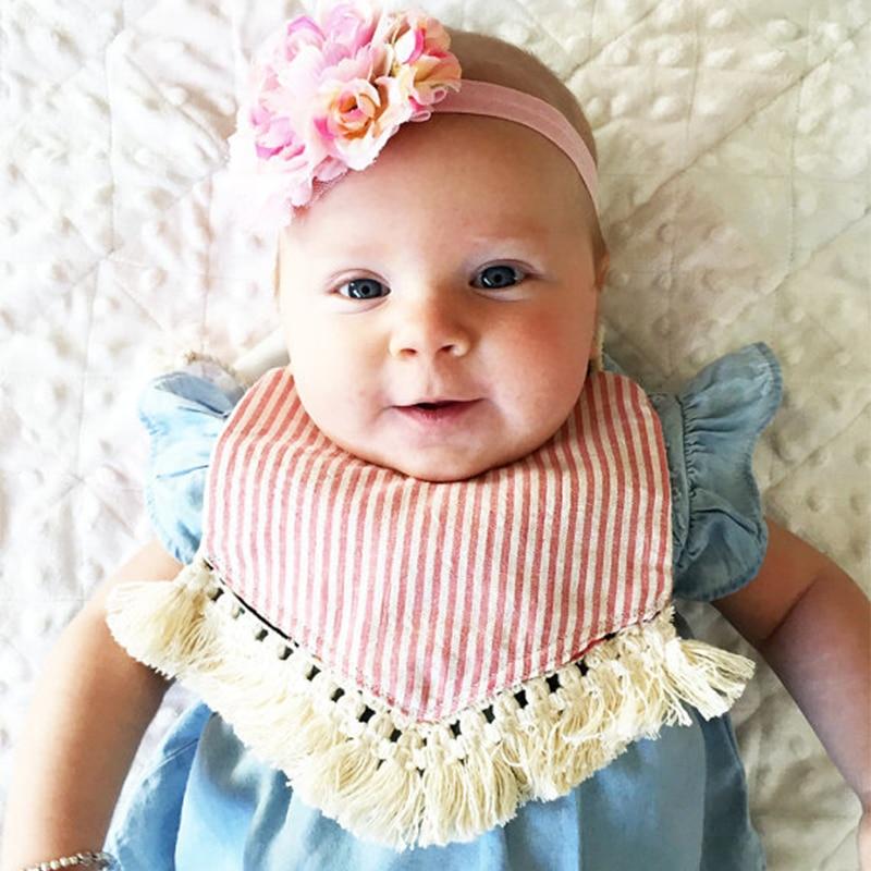 Baby Bibs Waterproof Boho Lace Baby Girl Bib Saliva Towel Infant Toddler Bib Bandana Bibs Tassel Burp Cloth Feeding Apron