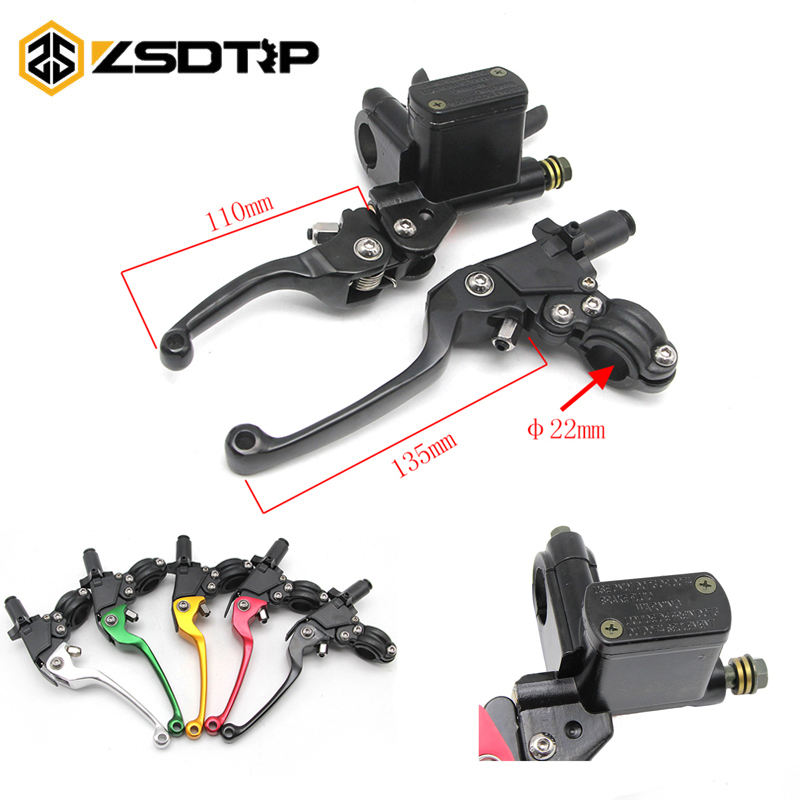 ZSDTRP 22mm Universal Adjustable Motorcycle ASV Brake Clutch Levers Master Cylinder Hydraulic Pump For HONDA YAMAHA KAWASAKI