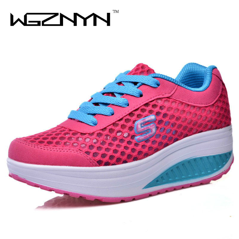 WGZNYN 2017 Summer Style Height Increasing Women Shoes Women's Swing Shoes Breathable Platform Shoes Flats Free Shipping free shipping candy color women garden shoes breathable women beach shoes hsa21