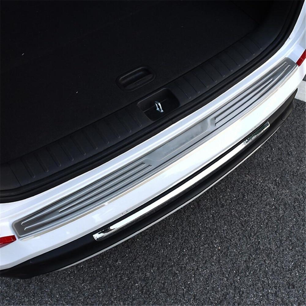 Coffre Cargo pare-chocs seuil de seuil pour Hyundai Tucson 2015 2016 extérieur arrière plaque de coffre pédale Boot revêtement d'habillage pour Tucson 2017 2018