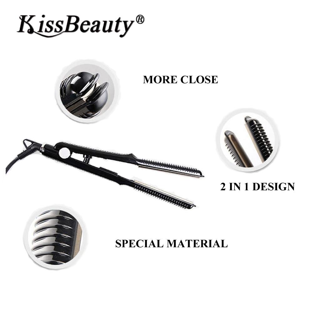 Acheter Kissbeauty Professionnel De Fer De Type U 2 DANS 1 Cheveux bigoudi C Titane Fer À Friser de Fers À Friser fiable fournisseurs