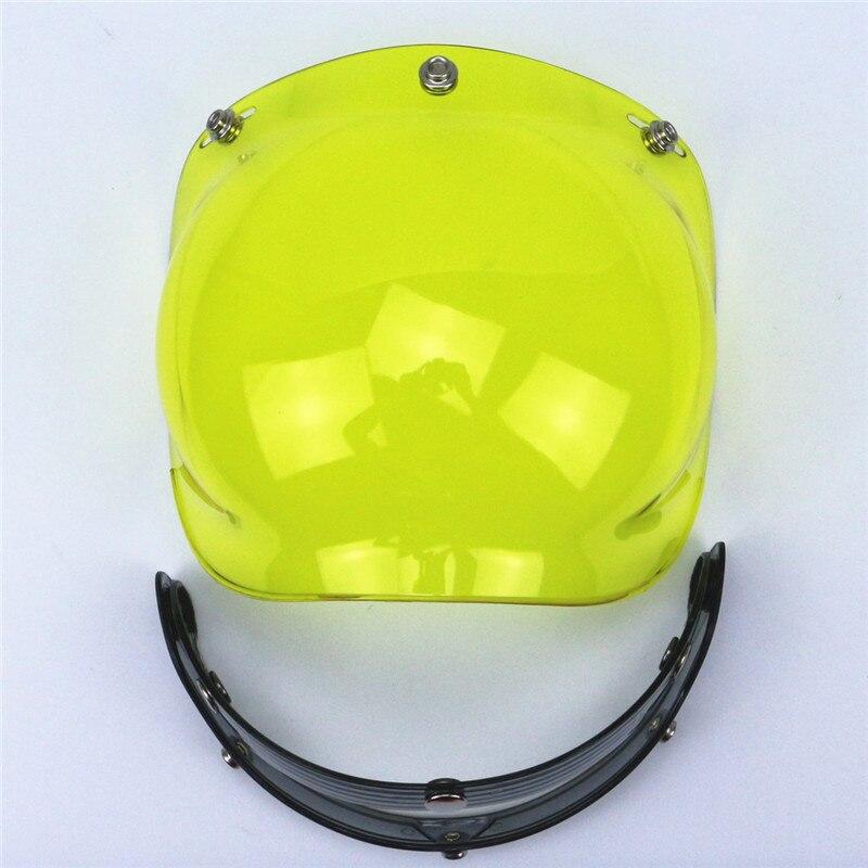 ef7af10f Top quality DIY helmet Bubble Visor UV 400 protection Helmet Windshield 3  pin buckle adjustable flip up helmet glass 9 colors-in Helmets from  Automobiles ...