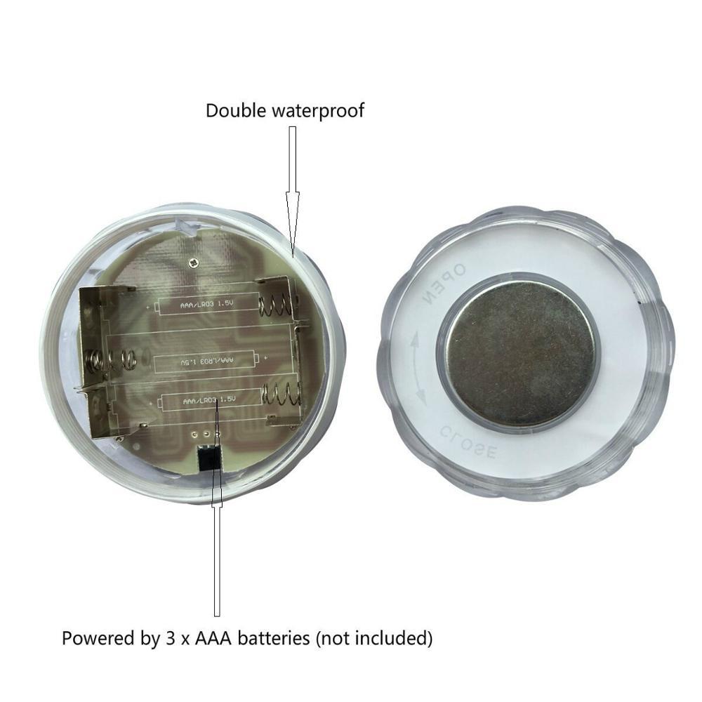 Remote Control LED RGB Submersible AAA Battery Operated LED - Pencahayaan perayaan - Foto 5