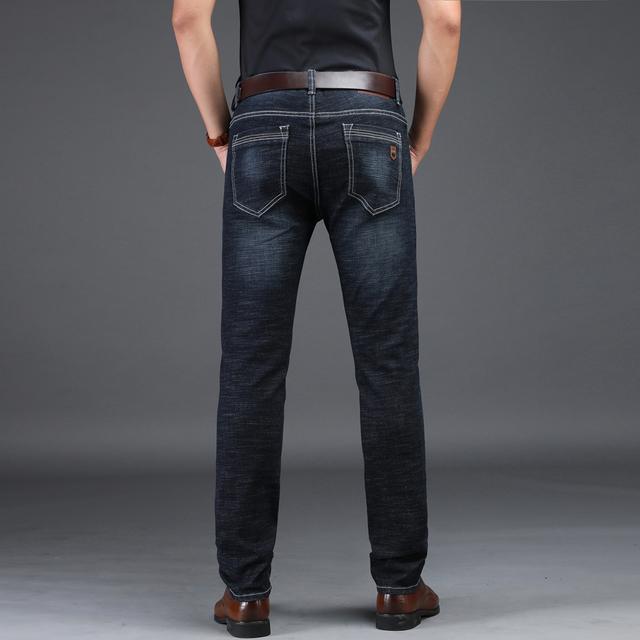 Men's Dark Blue Straight Jeans