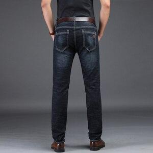 Image 3 - NIGRITY 2019 Nuovi Jeans Da Uomo Intelligente Casual Jeans Regular Fit Straight Leg Elasticità Dei Jeans 8932 Lungo Tratto Pantaloni Big Size 42