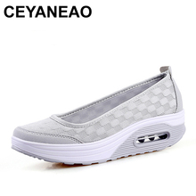 Women Sneakers Air Mesh Flats Shoes Comfortable Flat Platform Daily Shoes Basic Outwear Femail Shoes YD938
