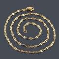 2014 novas mulheres da moda equisite Lábio aço inoxidável 316L banhado a Ouro cadeias colares do vintage jóias por atacado 10 pçs/lote
