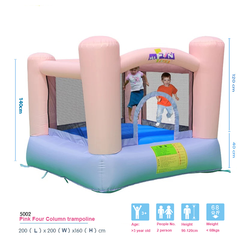 HTB1kb 8PXXXXXaVapXXq6xXFXXXR - Mr. Fun Kids Pink Inflatable Bouncer Home Trampoline with Blower