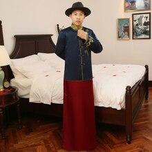 Весна и лето Специальное модное шоу Китайский Мужской традиционный костюм жениха китайский стиль свадебное платье «длинный дракон»
