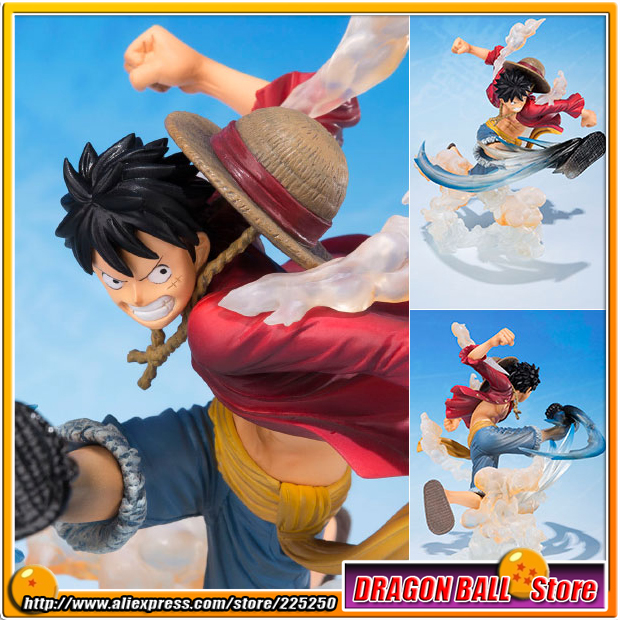 Japan Anime ONE PIECE (100% Original BANDAI) Tamashii Nations Figuarts Zero Figure - Monkey D. Luffy  -Gomugomu no Takamuchi- japan anime one piece 100% original bandai tamashii nations figuarts zero figure violet