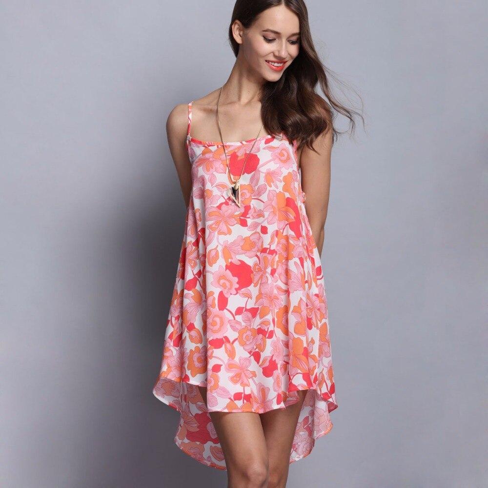 New Women Summer slash neck dress loose strapless spaghetti strap Bodycon draped print flower dresses Sleep vestidos